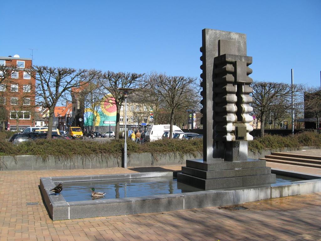 Anatre e fontana